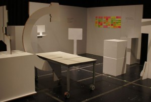 Walls of the prototype were utilized for notetaking.